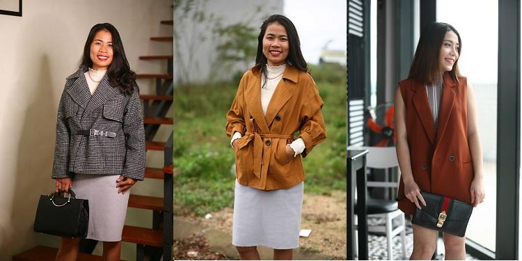 Những mẫu áo khoác ngắn mặc đẹp với dáng hình chữ nhật