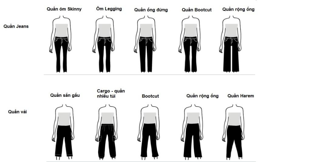 Cách phối đồ cho dáng người hình chữ nhật - quần jeans và quần âu