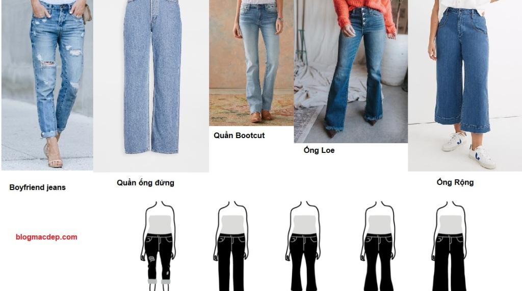 Cách phối đồ cho dáng người quả táo - quần jeans